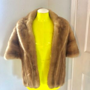 Genuine MINK fitted cape MINT condition